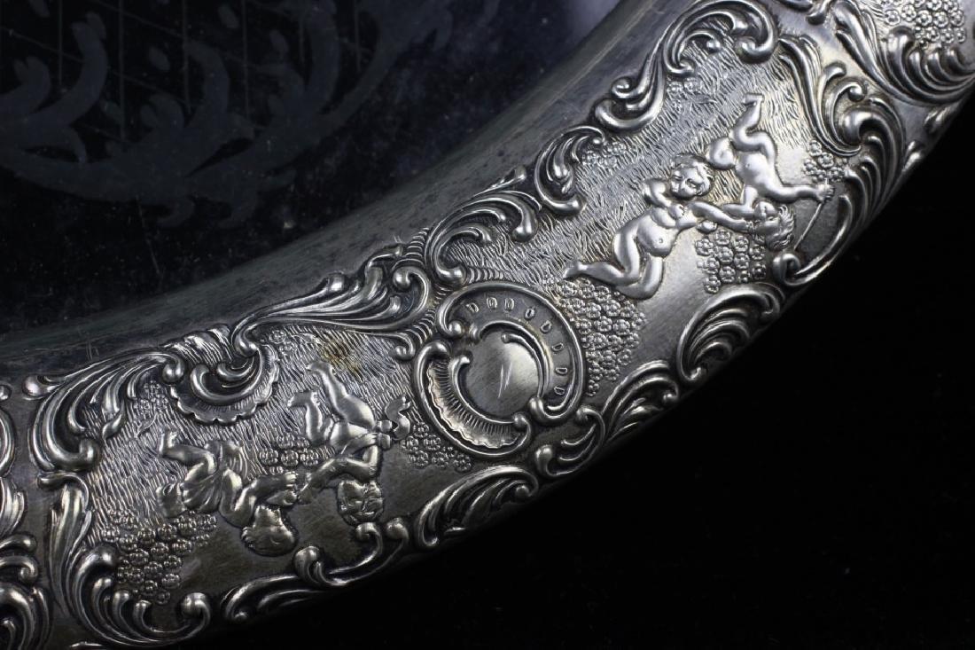German Silver & Glass Tray - 5