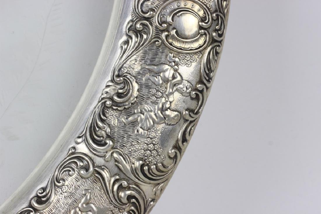 German Silver & Glass Tray - 7