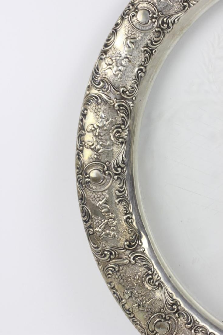 German Silver & Glass Tray - 8