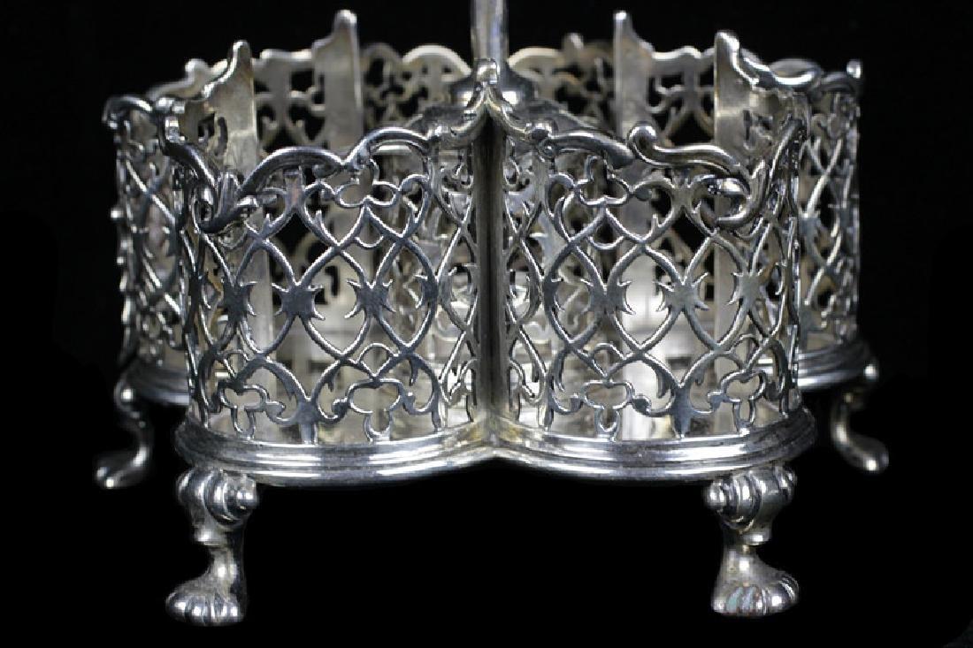 English Georgian Sterling Silver Cut Crystal Cruet - 8