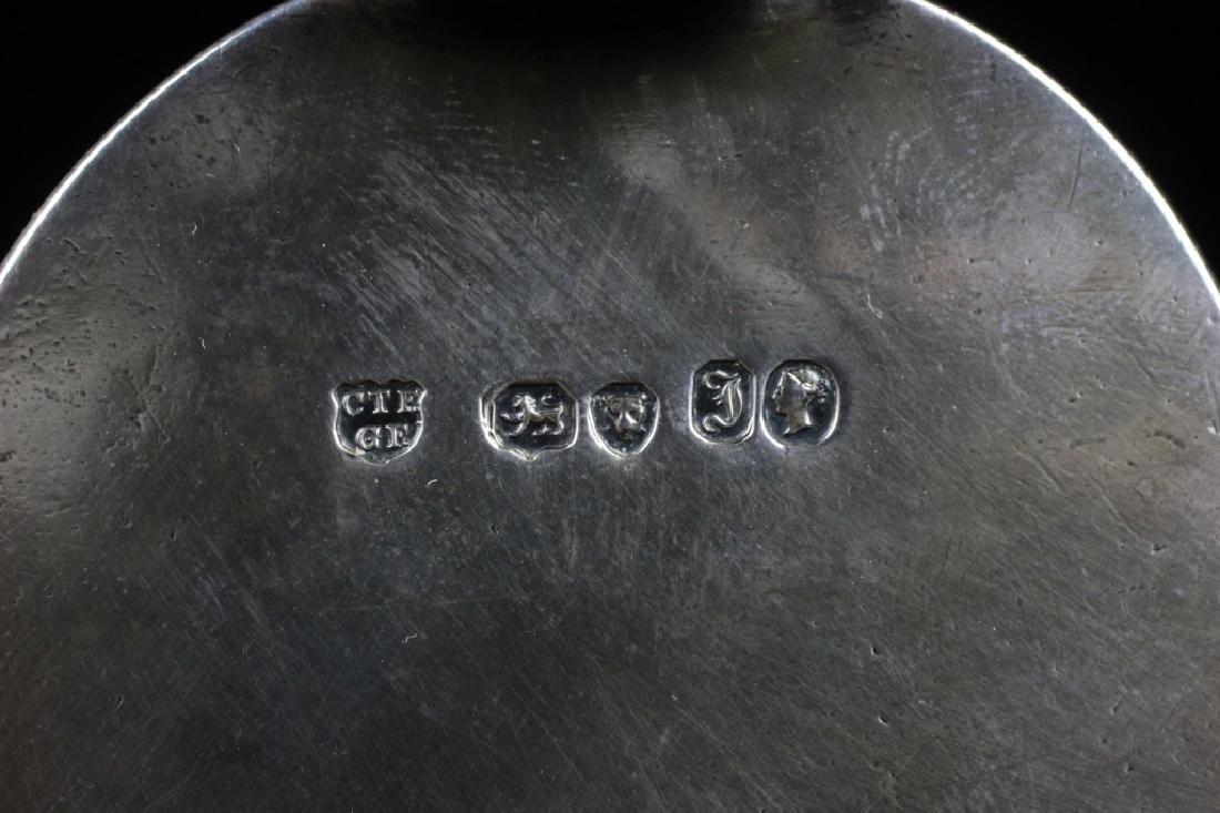 English Georgian Sterling Silver Cut Crystal Cruet - 9