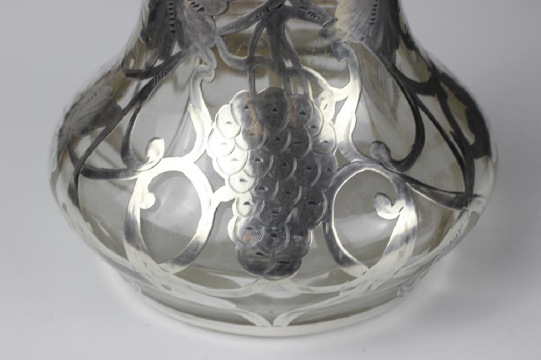 19thc Heavy Silver Overlay Pitcher - 9