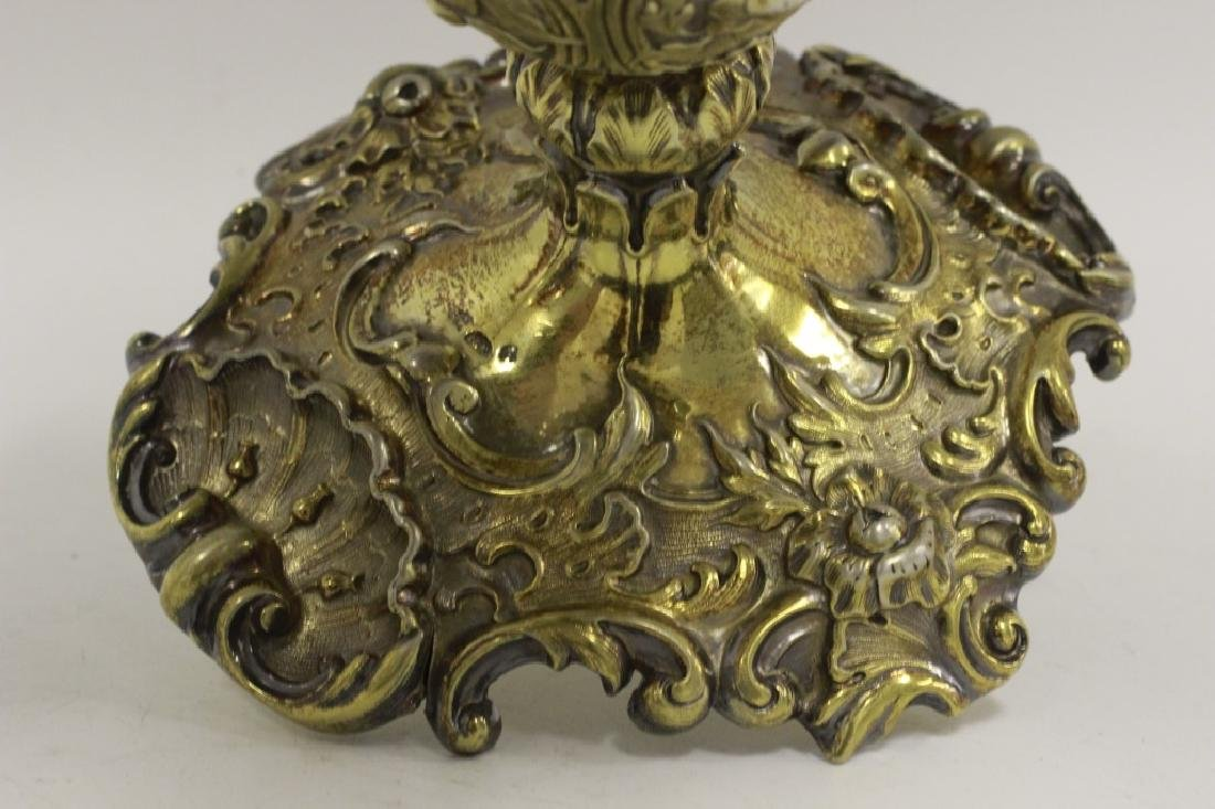 19thc Russian Silver Gilded Reticulated Candy Dish - 4