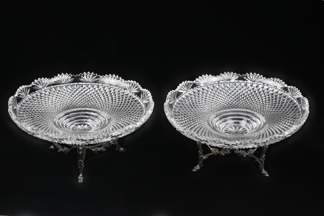 Pair of French Silver Odiot Compotes