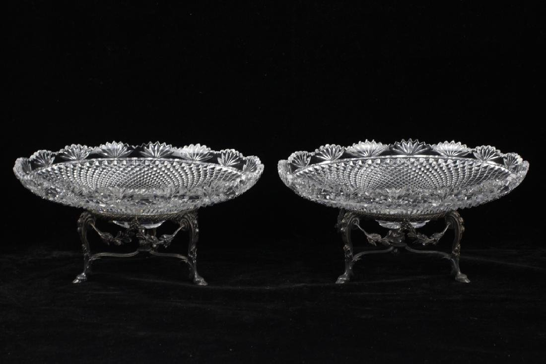 Pair of French Silver Odiot Compotes - 5