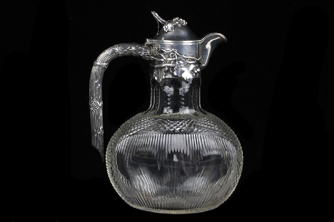Silver & Cut Crystal Pitcher by Posen