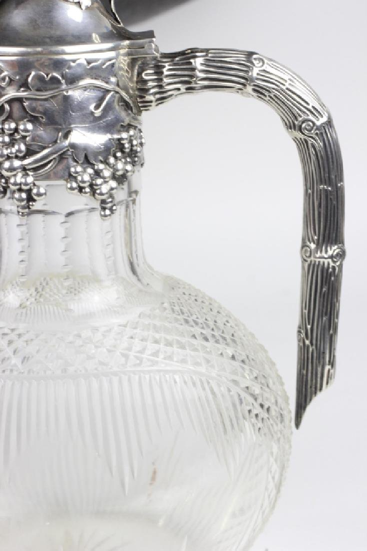 Silver & Cut Crystal Pitcher by Posen - 6
