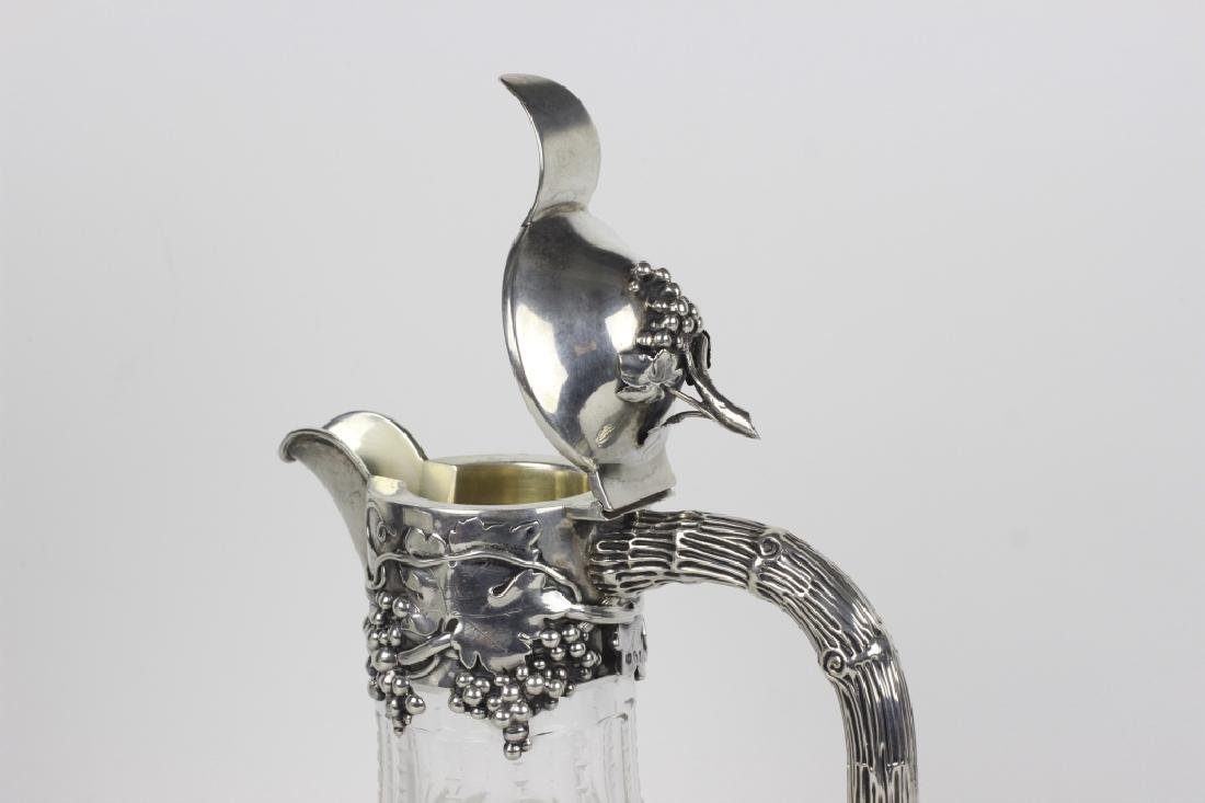 Silver & Cut Crystal Pitcher by Posen - 7