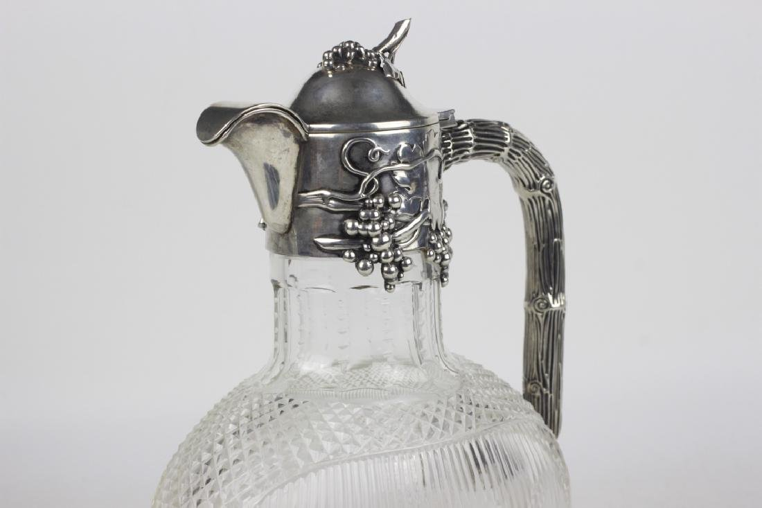 Silver & Cut Crystal Pitcher by Posen - 8