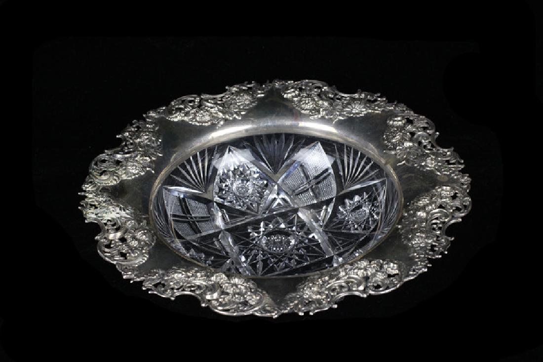 Brilliant Period Art Nouveau Cut Crystal Bowl - 10