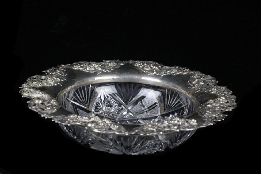 Brilliant Period Art Nouveau Cut Crystal Bowl - 2