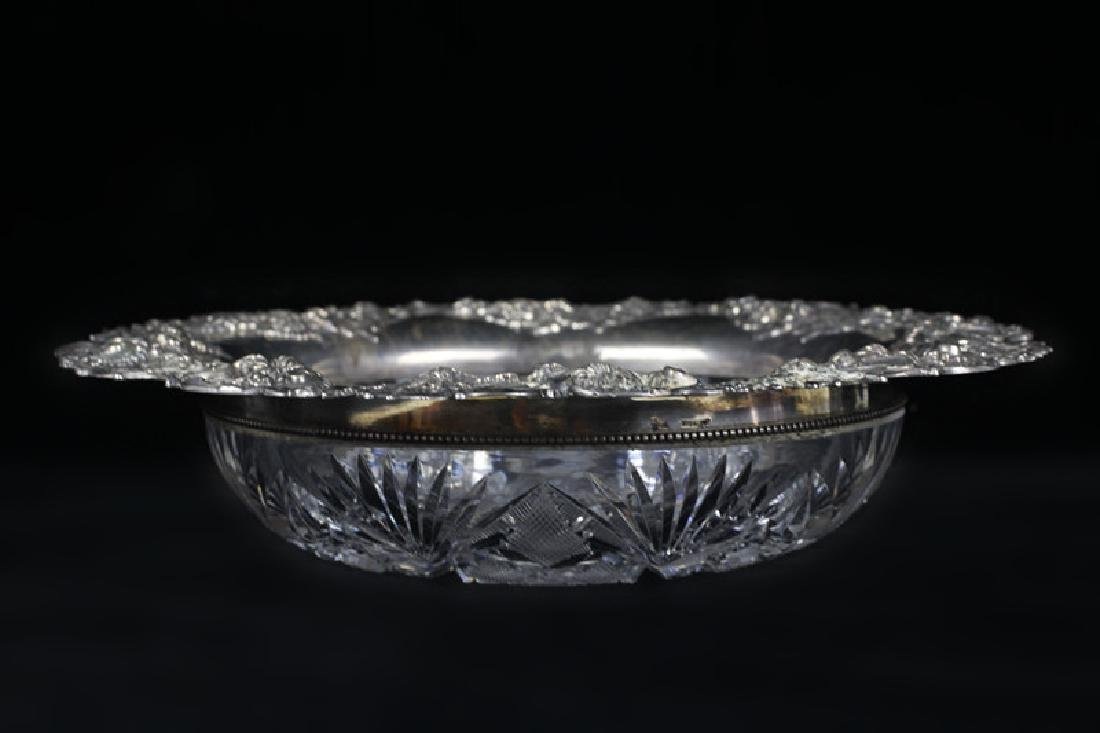 Brilliant Period Art Nouveau Cut Crystal Bowl - 9