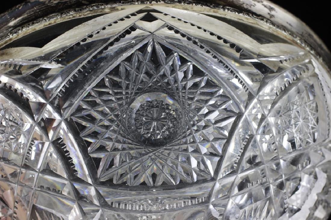American Cut Crystal Bowl w/ Silver Rim - 4