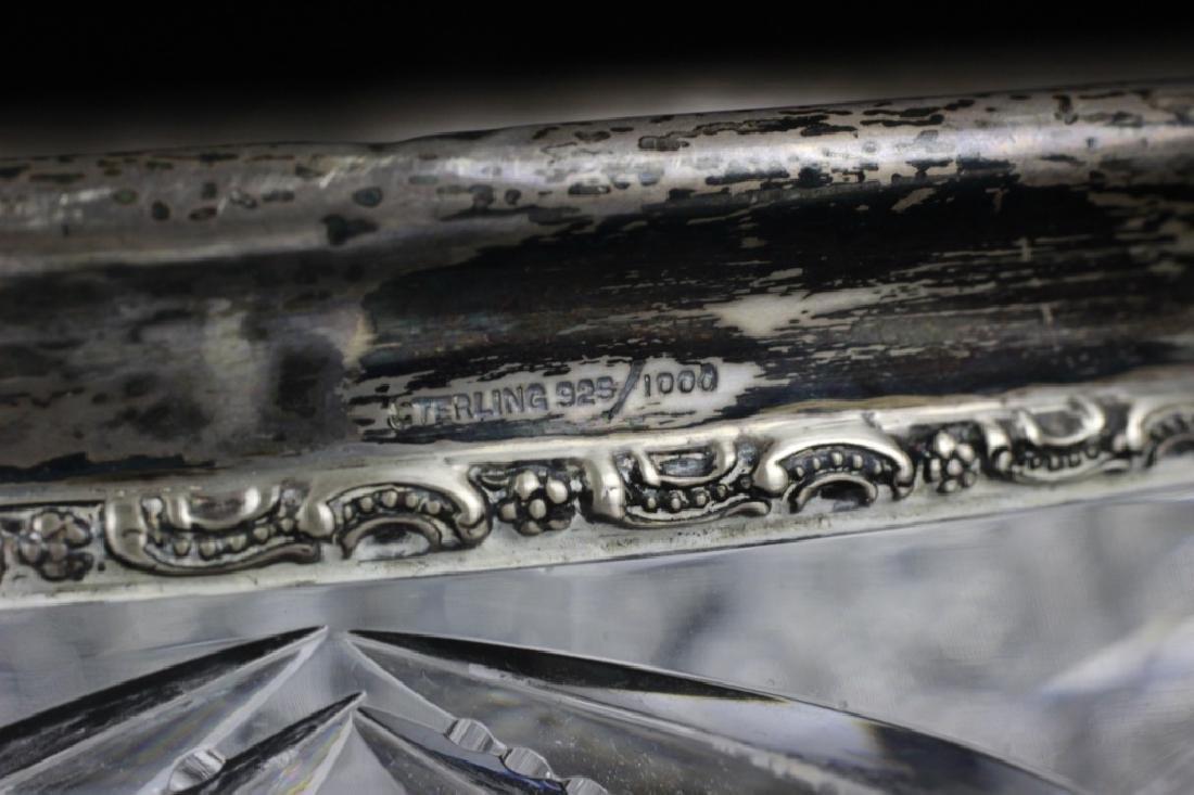 American Cut Crystal Bowl w/ Silver Rim - 6