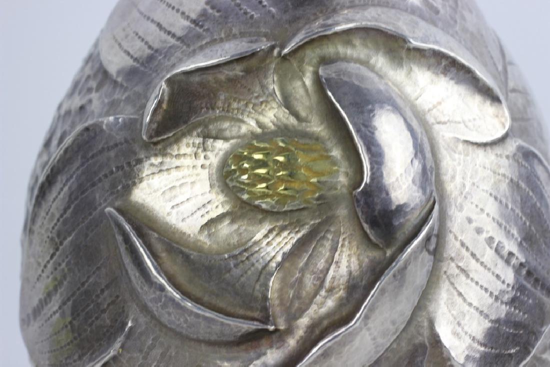 Japanese Gilt Sterling Silver Vase, Signed - 3