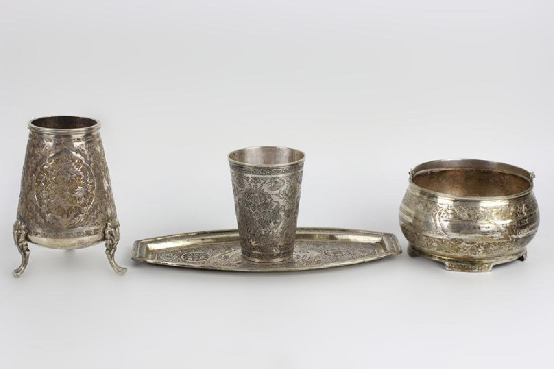 4 Persian Silver Items
