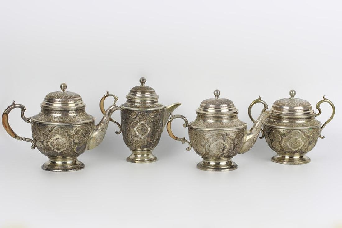 Persian Silver Coffee & Tea Set