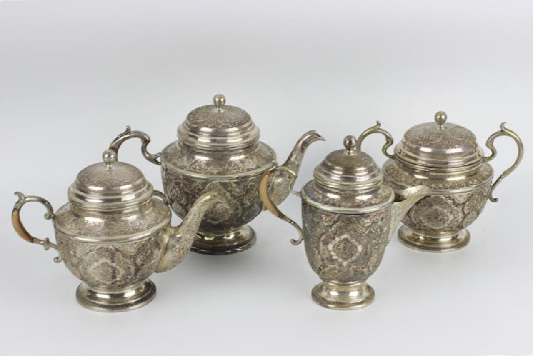 Persian Silver Coffee & Tea Set - 2