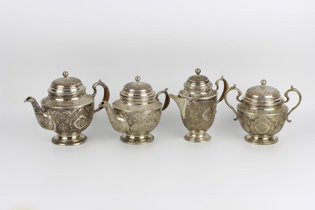 Persian Silver Coffee & Tea Set - 3