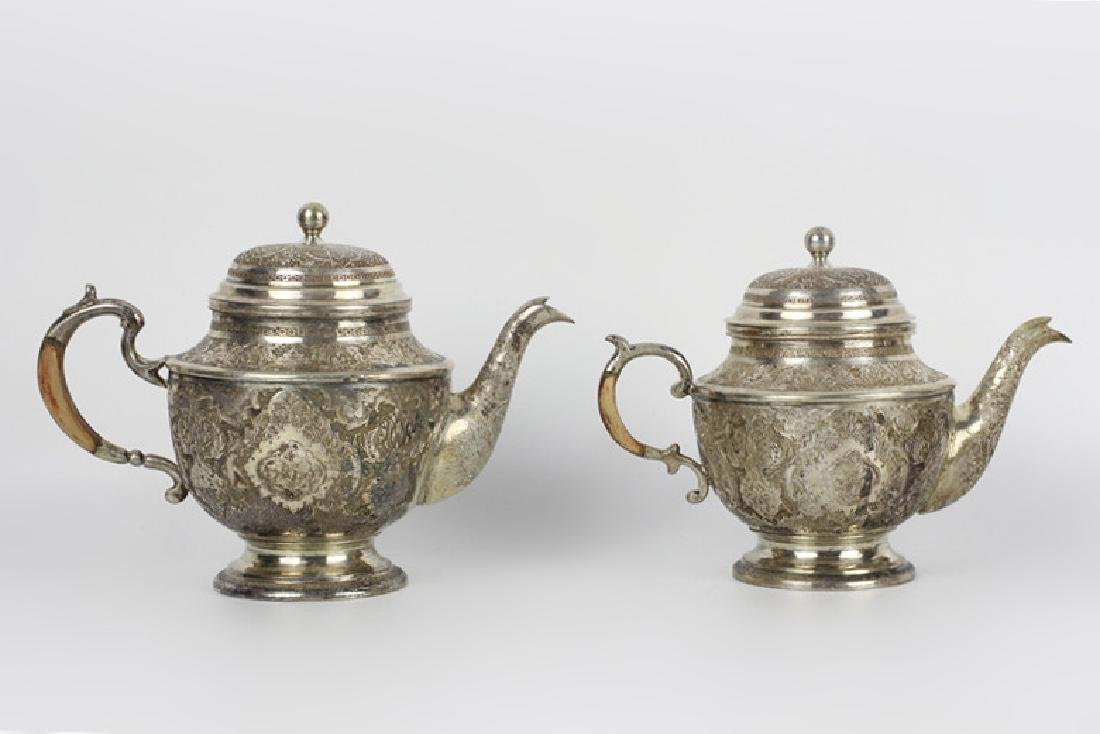 Persian Silver Coffee & Tea Set - 4