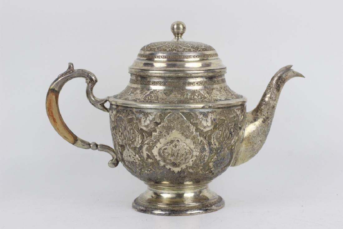 Persian Silver Coffee & Tea Set - 6