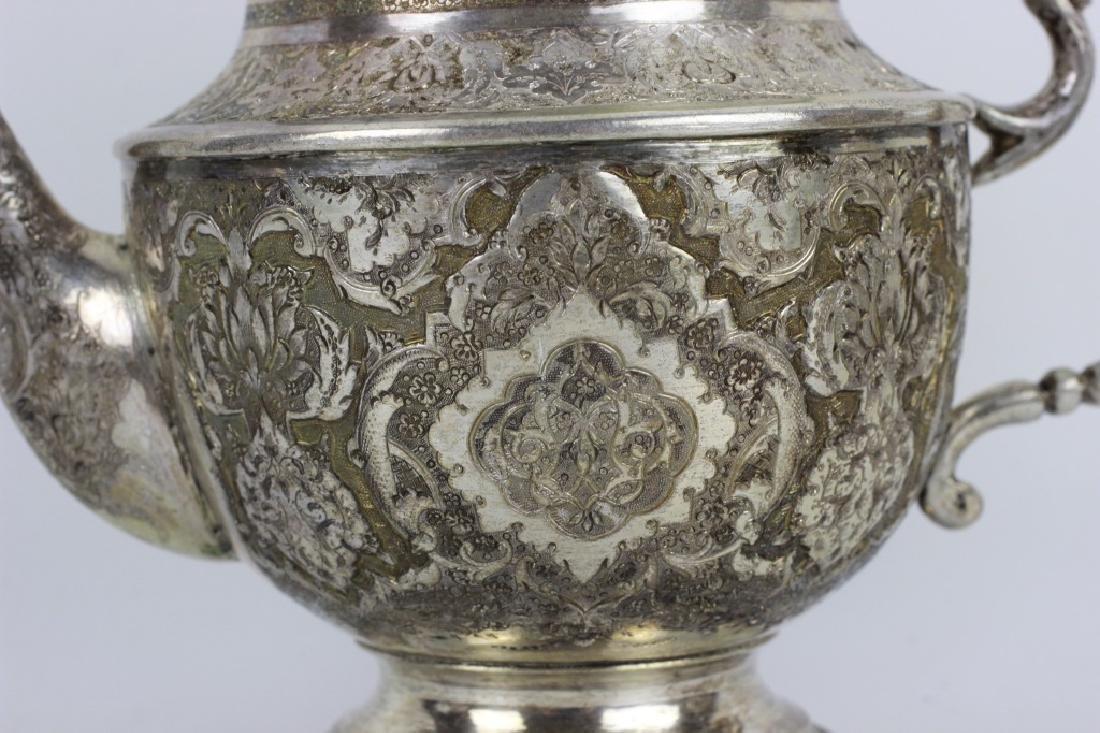 Persian Silver Coffee & Tea Set - 7