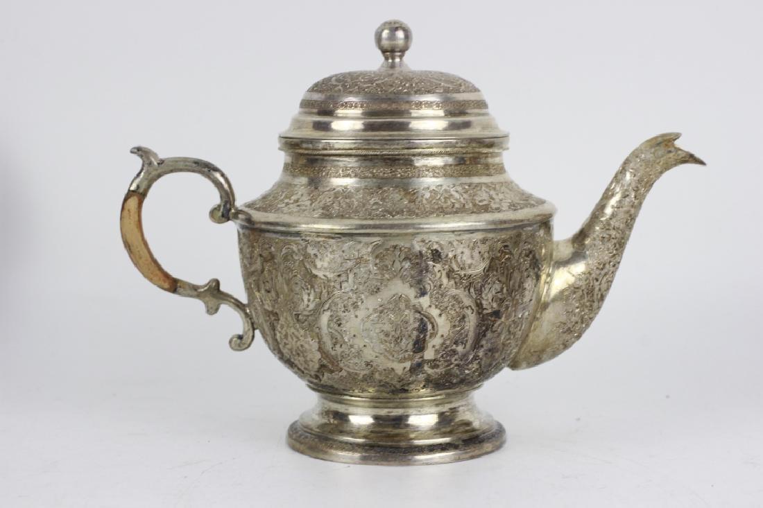 Persian Silver Coffee & Tea Set - 9