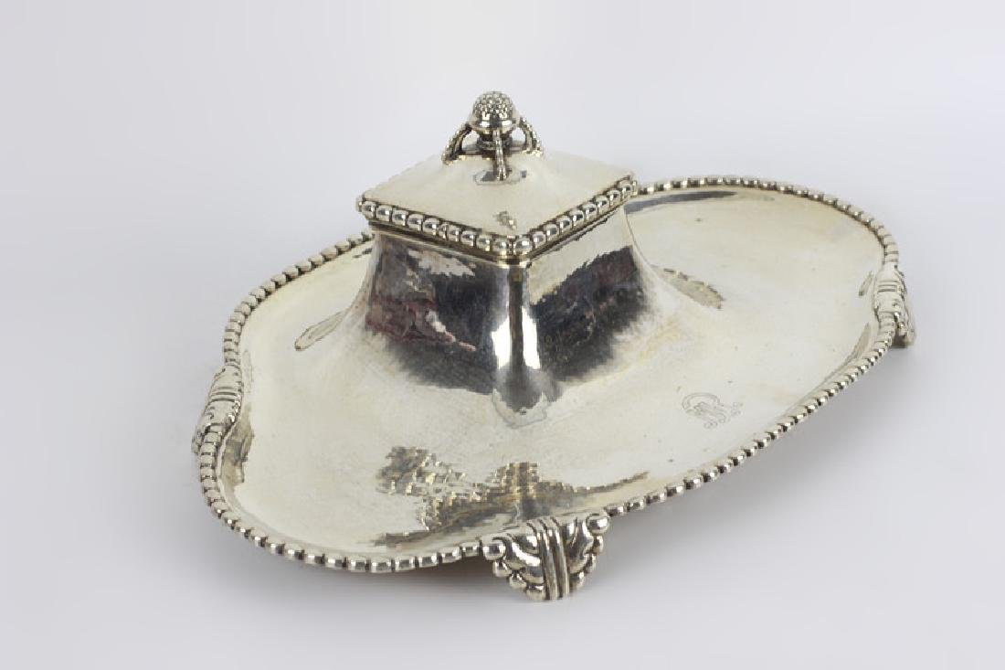 Sterling Silver Large Inkwell - 3
