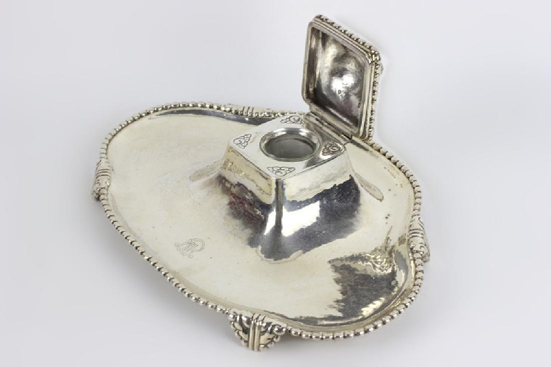 Sterling Silver Large Inkwell - 4