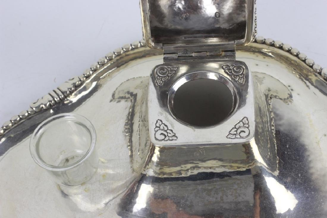 Sterling Silver Large Inkwell - 5