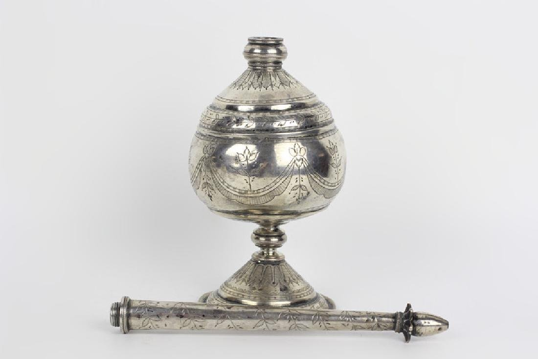 Early 19thc Silver Rosewater, Probably Continental - 4