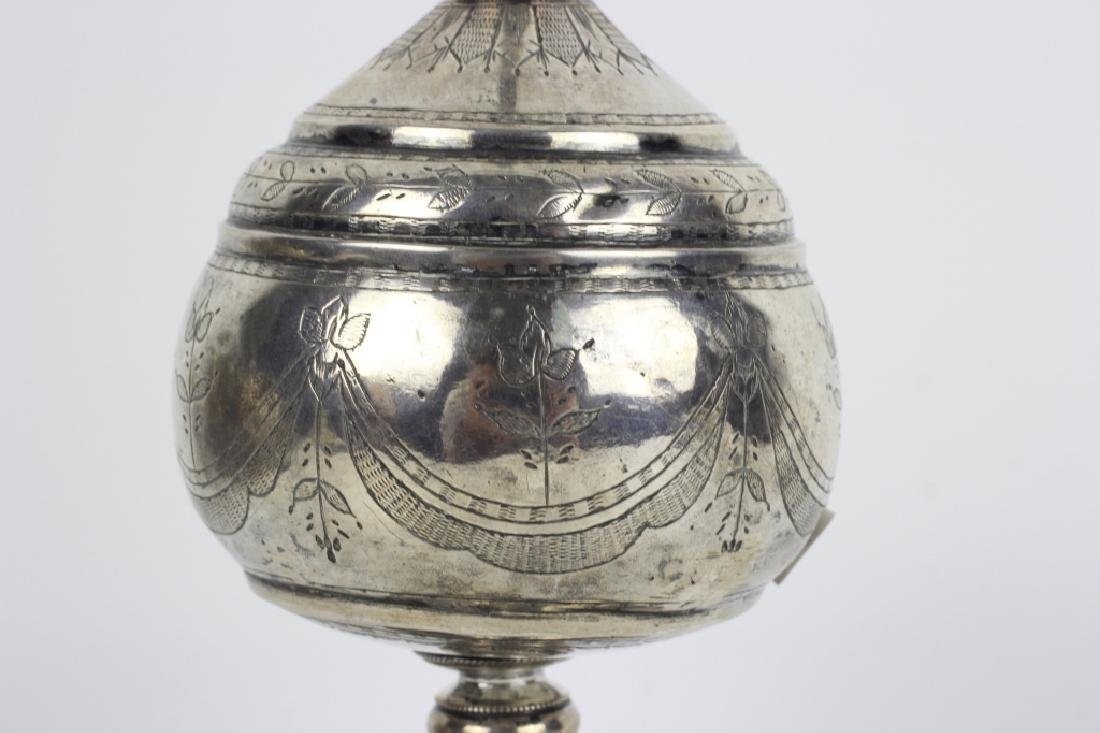 Early 19thc Silver Rosewater, Probably Continental - 7