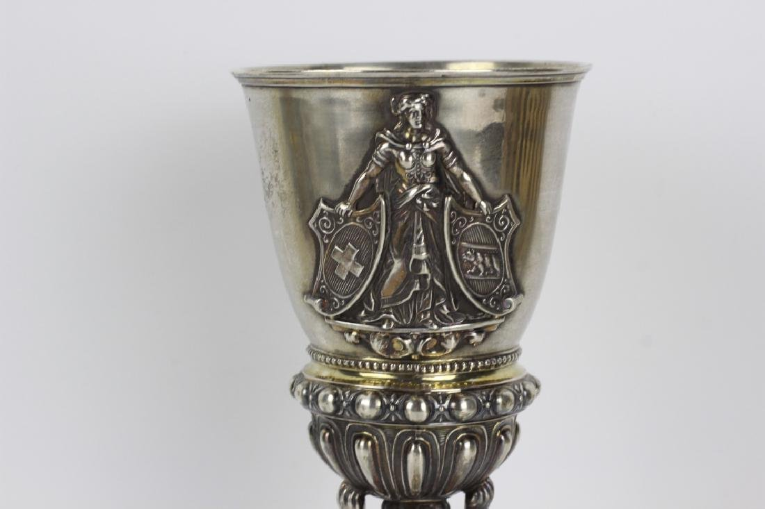 19thc German Silver Chalice - 3
