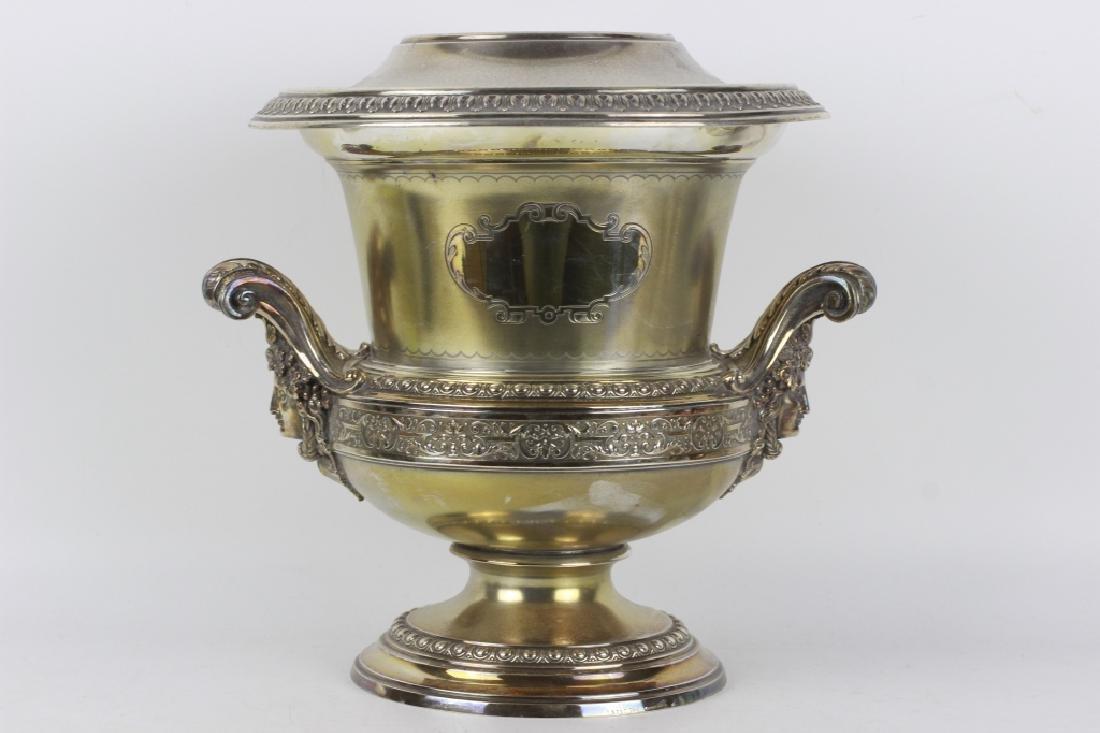 19thc German Silver Wine Cooler
