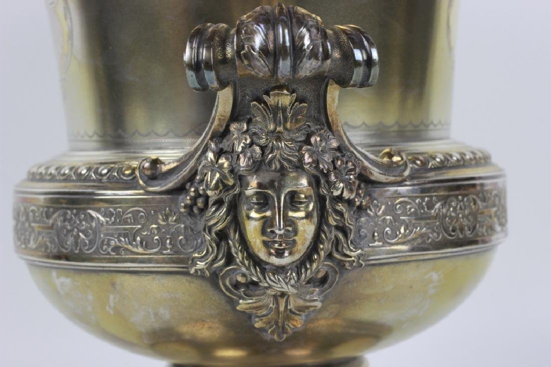 19thc German Silver Wine Cooler - 4