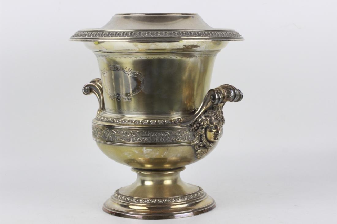 19thc German Silver Wine Cooler - 8