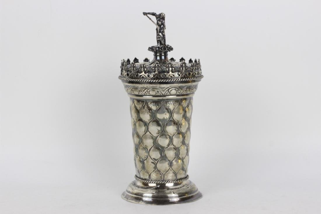 Early German Silver Figural Covered Cup