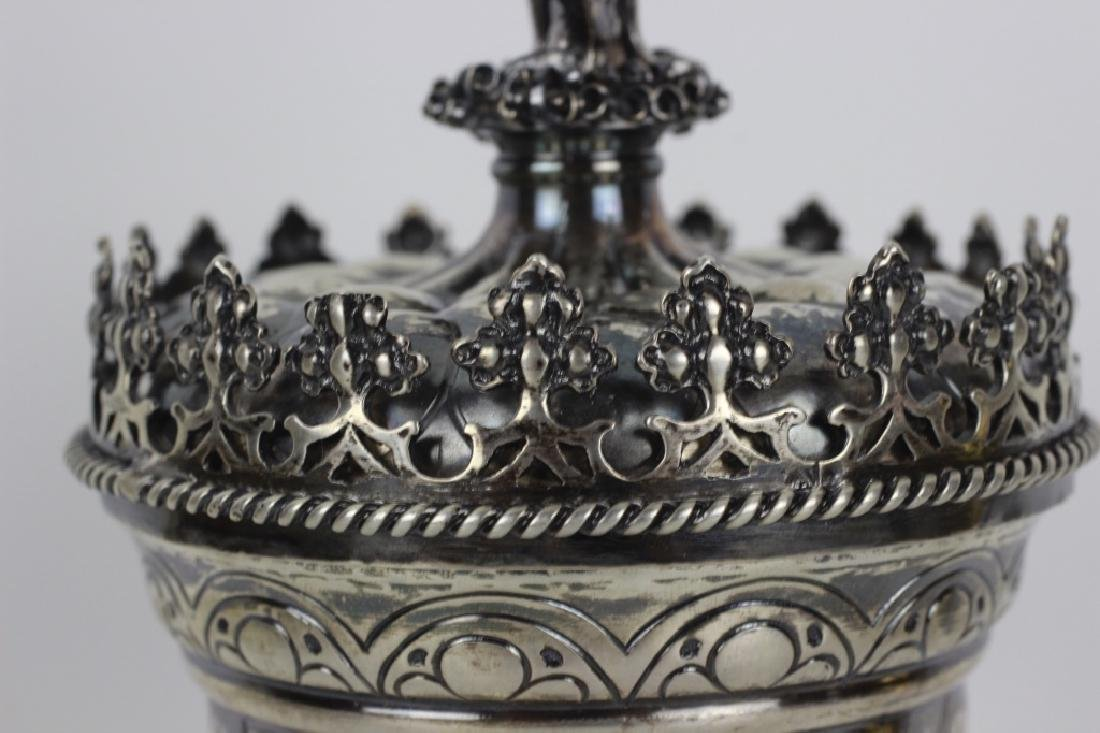 Early German Silver Figural Covered Cup - 2