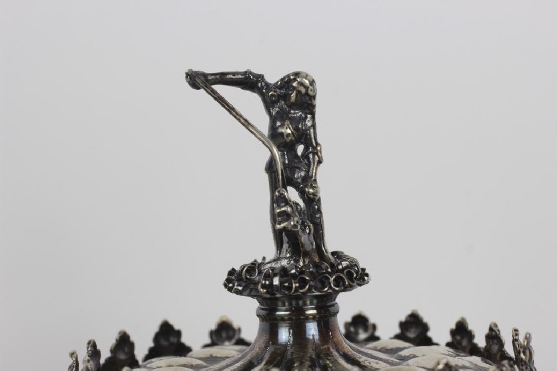 Early German Silver Figural Covered Cup - 3