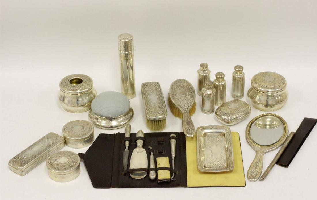 Rare 19thc Tiffany & Co. Makers Silver Vanity Set - 2