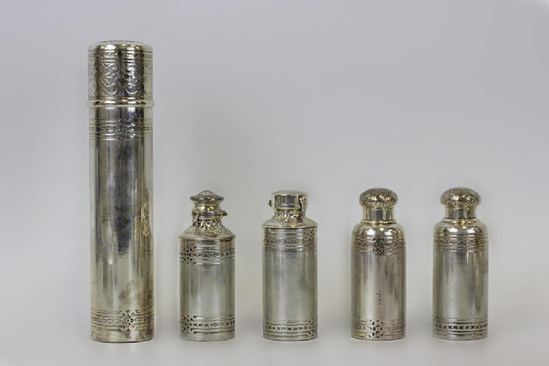 Rare 19thc Tiffany & Co. Makers Silver Vanity Set - 5