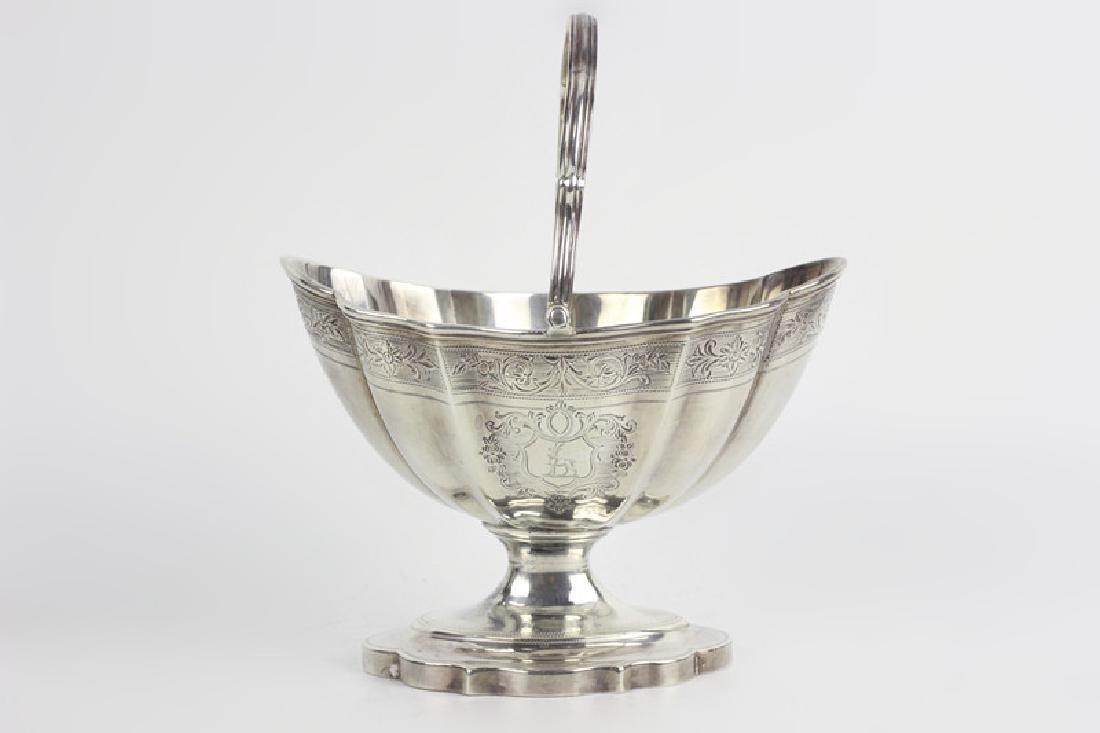 Late 18thc Early 19thc Georgian Silver Basket