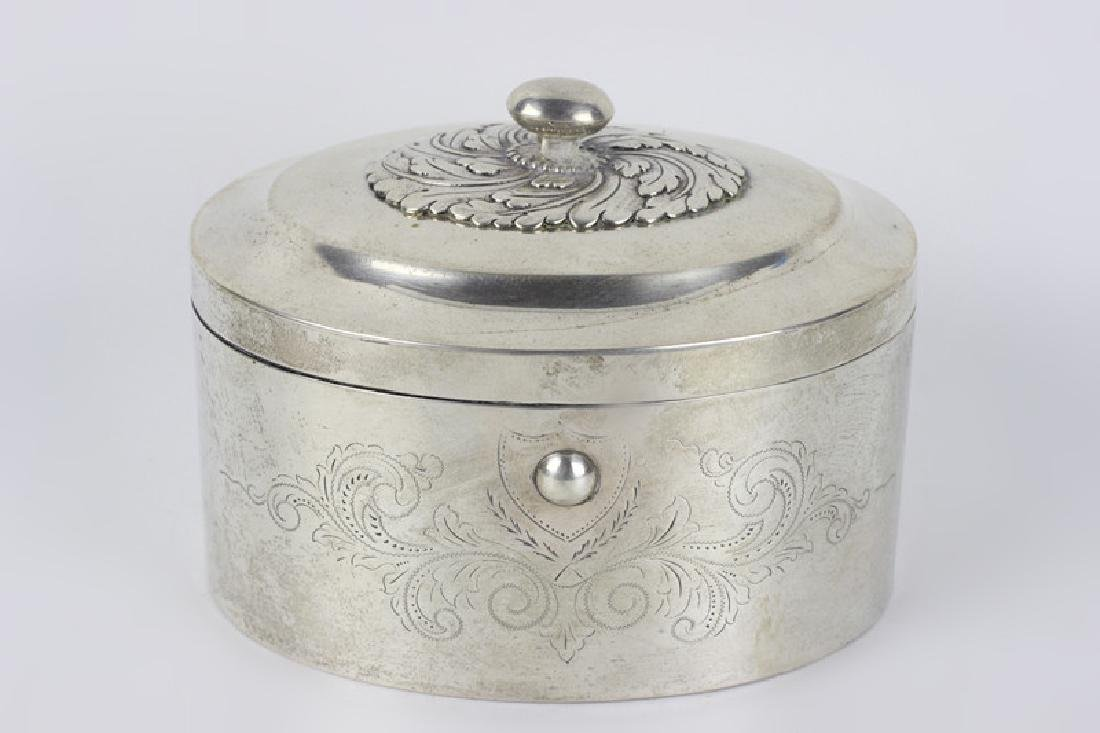 18thc German Silver  Dresden Box