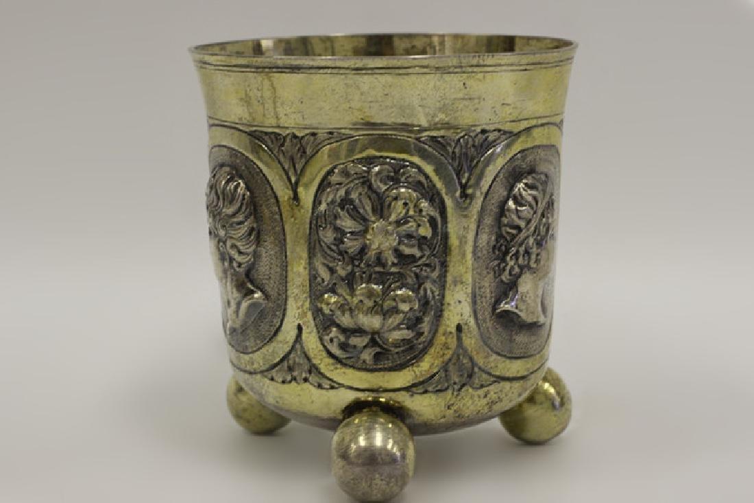 18thc Large German Nuremberg Silver Footed Cup. - 2