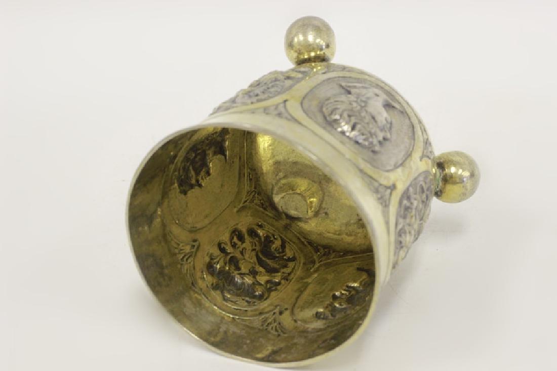 18thc Large German Nuremberg Silver Footed Cup. - 6
