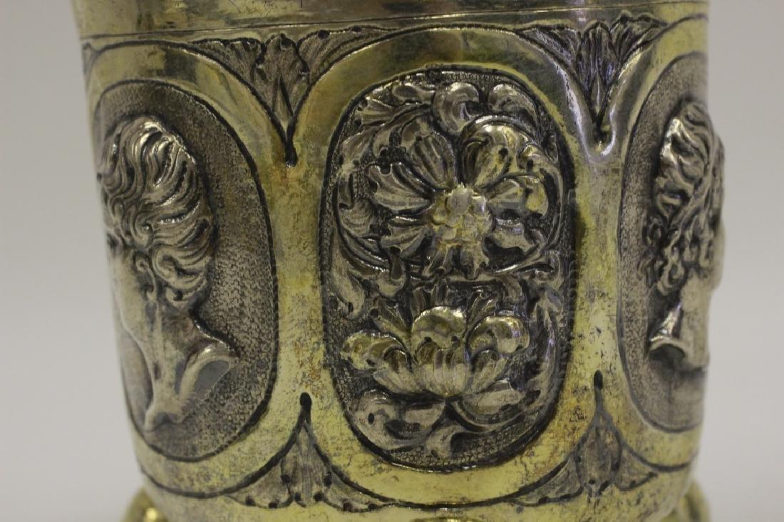 18thc Large German Nuremberg Silver Footed Cup. - 7