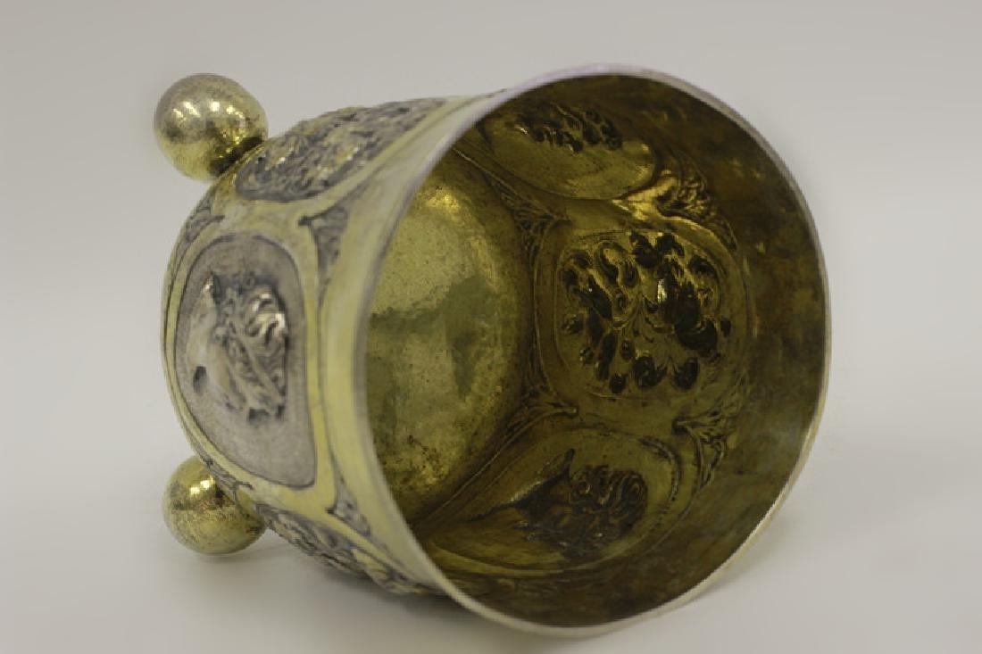18thc Large German Nuremberg Silver Footed Cup. - 8