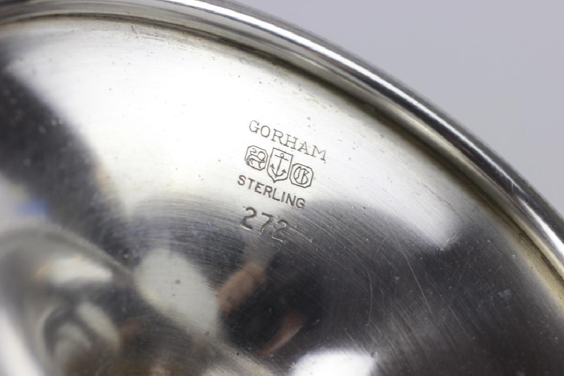 6 Gorham Sterling Silver Wine Goblets - 4