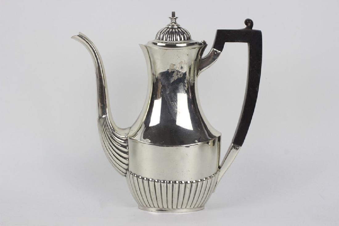 English Sterling Silver 3pc Coffee Set - 4