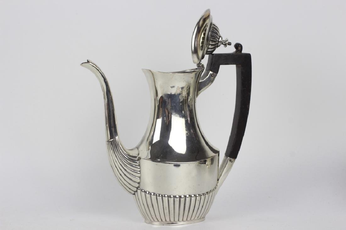 English Sterling Silver 3pc Coffee Set - 7